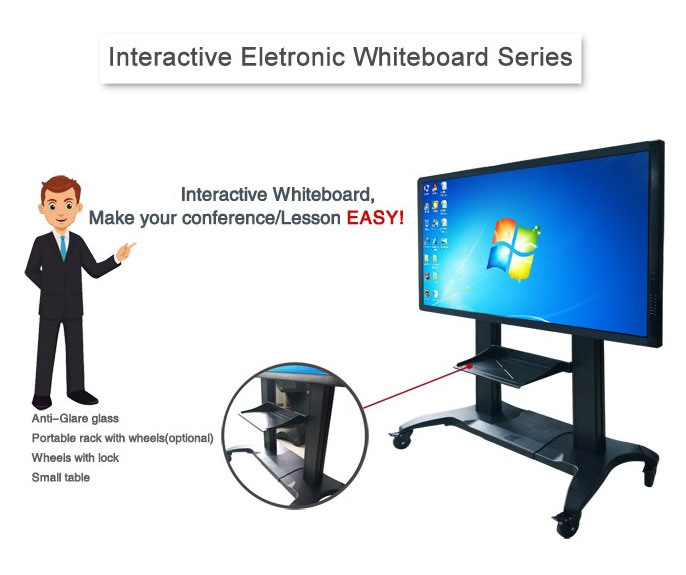 65 Inch LCD Display with OPS PC Built-in Interactive  Whiteboard