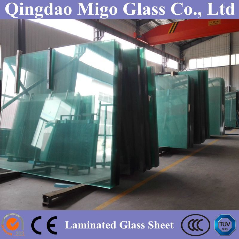 Clear PVB Laminated Safety Glass with Standard Sizes