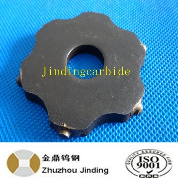 Tct Carbide Scarifier Cutters with 6 Spikes for Road Construction