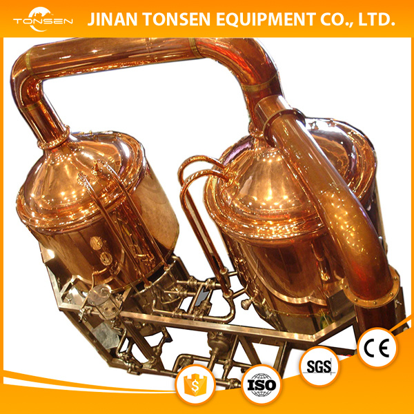 Electric, Steam, Direct Flame Heating 5bbl Red Copper Brewery Equipment