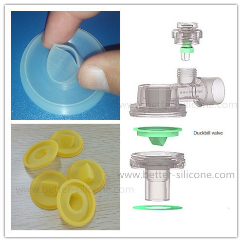 Manual Resuscitator Elastomer Rubber Non-Return Silicone Duckbill Valve