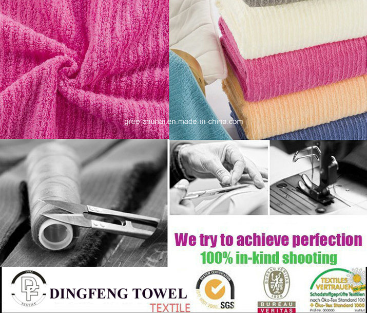 100% Cotton Color Strip Soft Bath Towel Df-3681