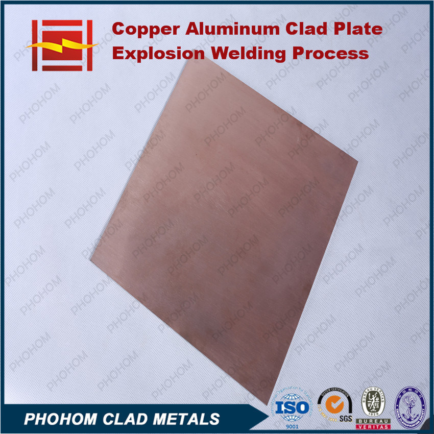 Explosion Bonding Copper T2 Aluminium Clad Plate