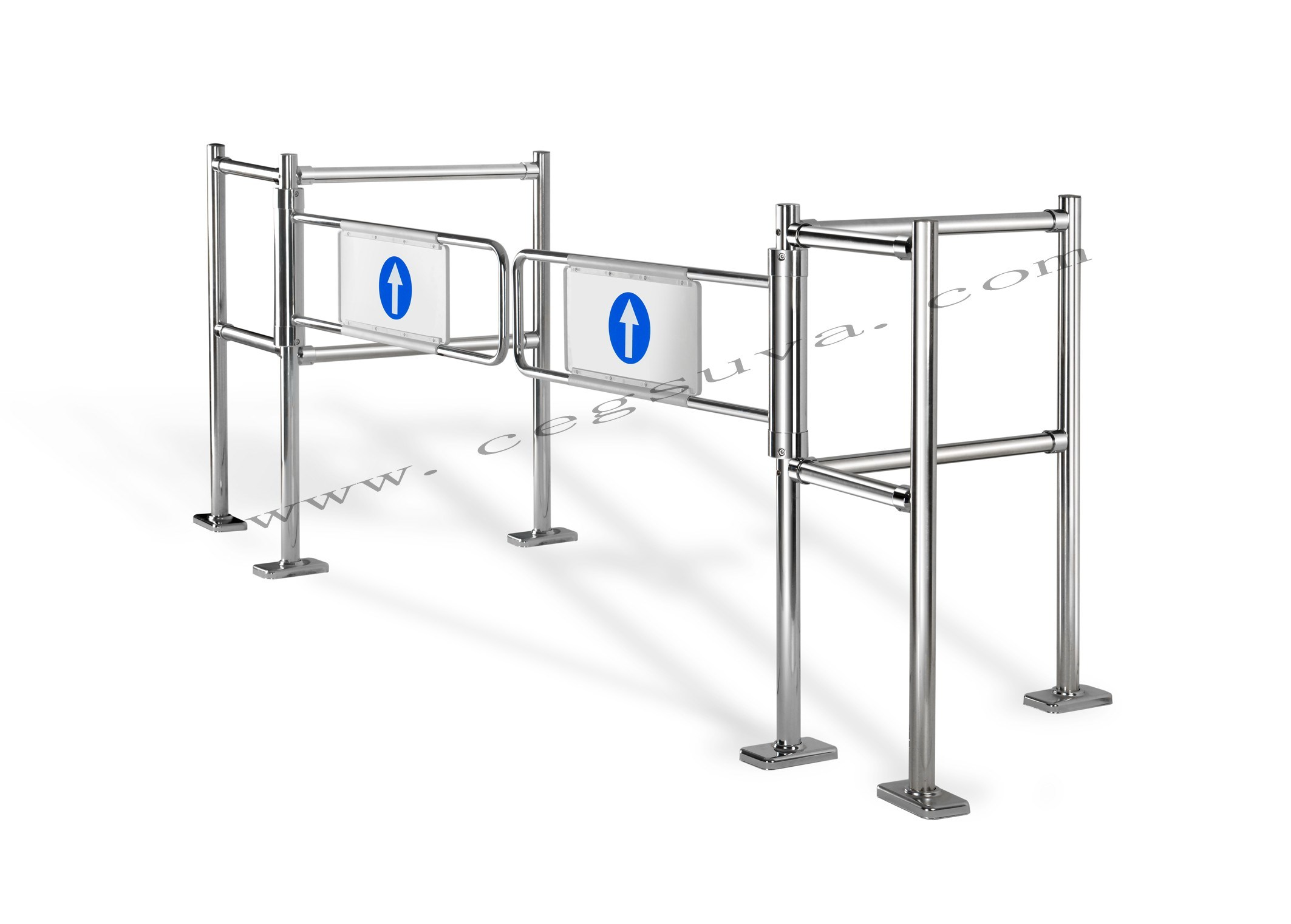Dual Mechanical with Barrier, Swing Gate, Supermarket Gate, Entrance Gate