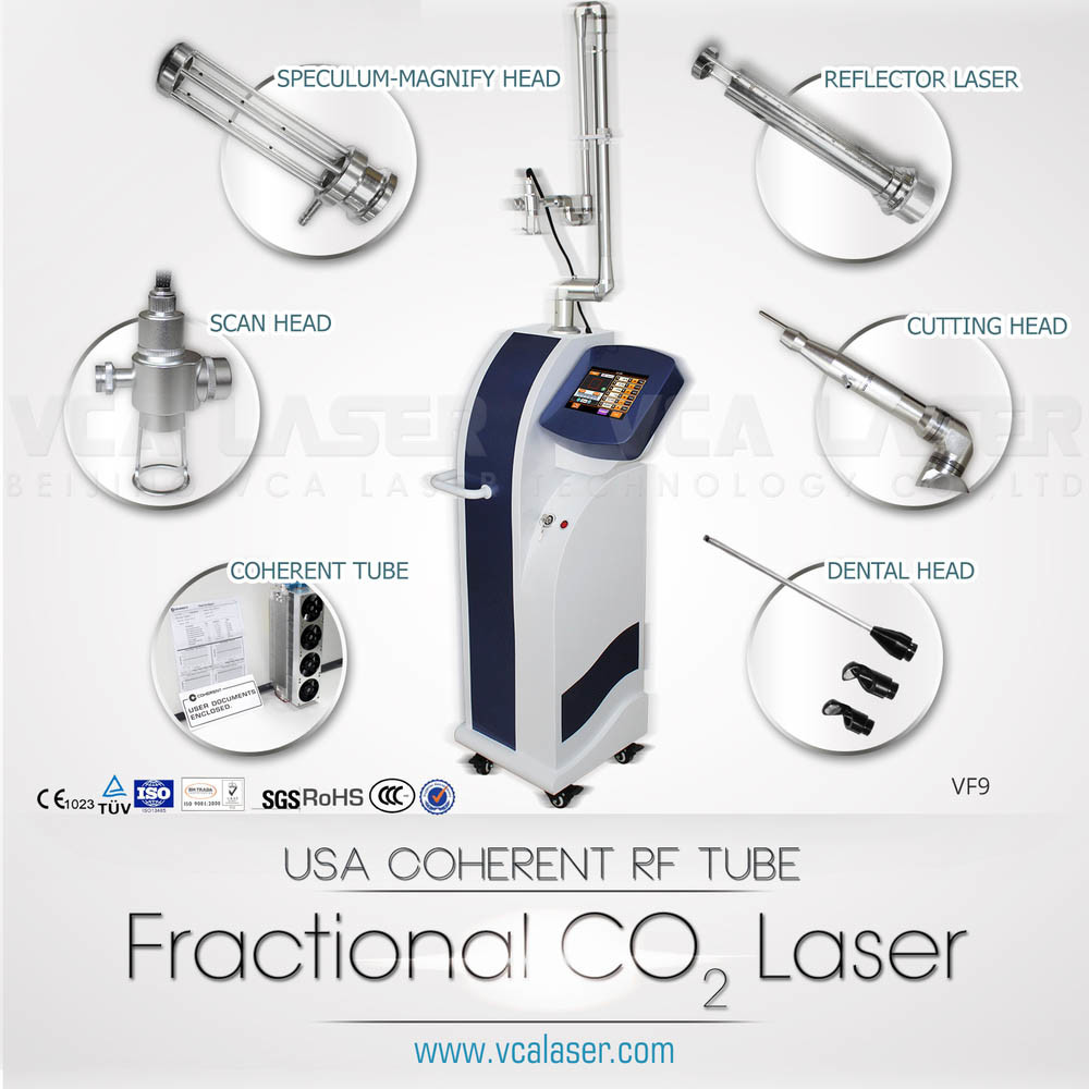 Aesthetic Equipments 30W Salon Use Stationary CO2 Fractional Laser Device for Mole Removal