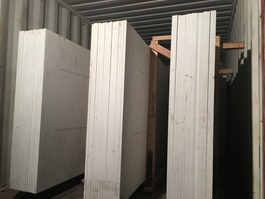 KF-022 Ice White Quartz Stone for Laminated Tops
