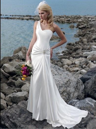 China Single Strap Wedding Dresses ANW 030 China Wedding Dress Wedding Gown