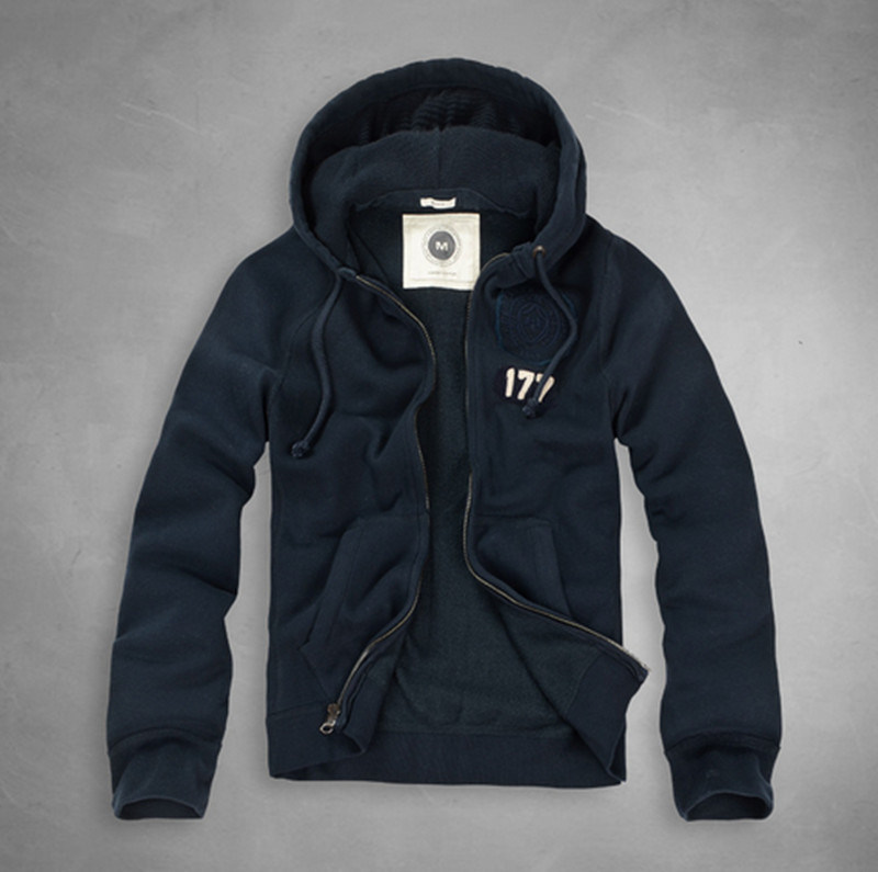 Customized High Quality Embroidery Logo Zipper Hoodie with Tag