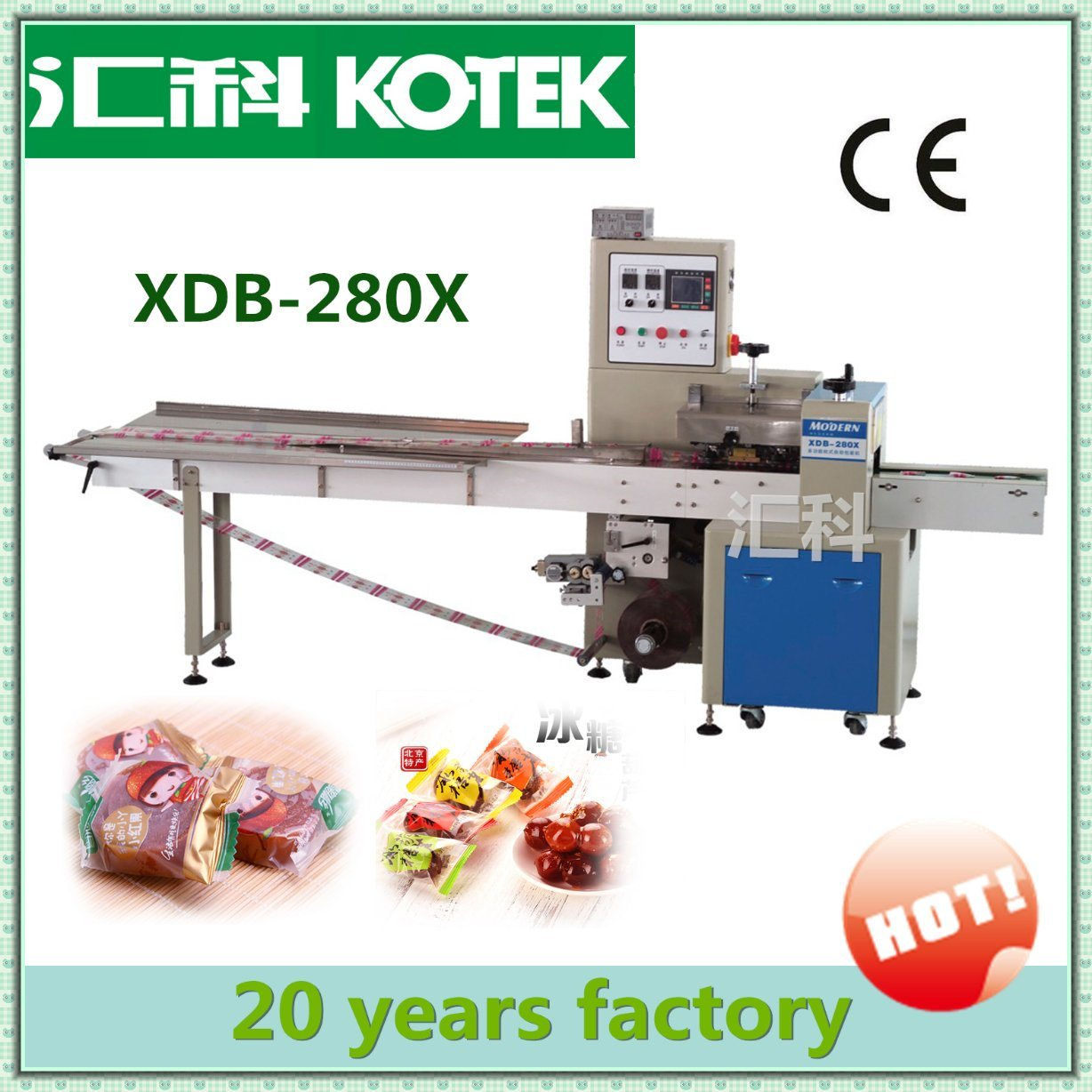 Pillow Pack Wrap Mini Flowpacker Horizontal Flow Dry Banana Piece Packaging Equipment Automatic Plantain Slice Packing Machine