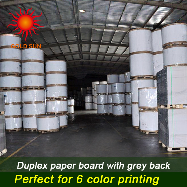Mixed Pulp Duplex Paper with Grey Back for Printing