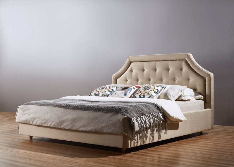 Queen Size Fabric Hotel Bed