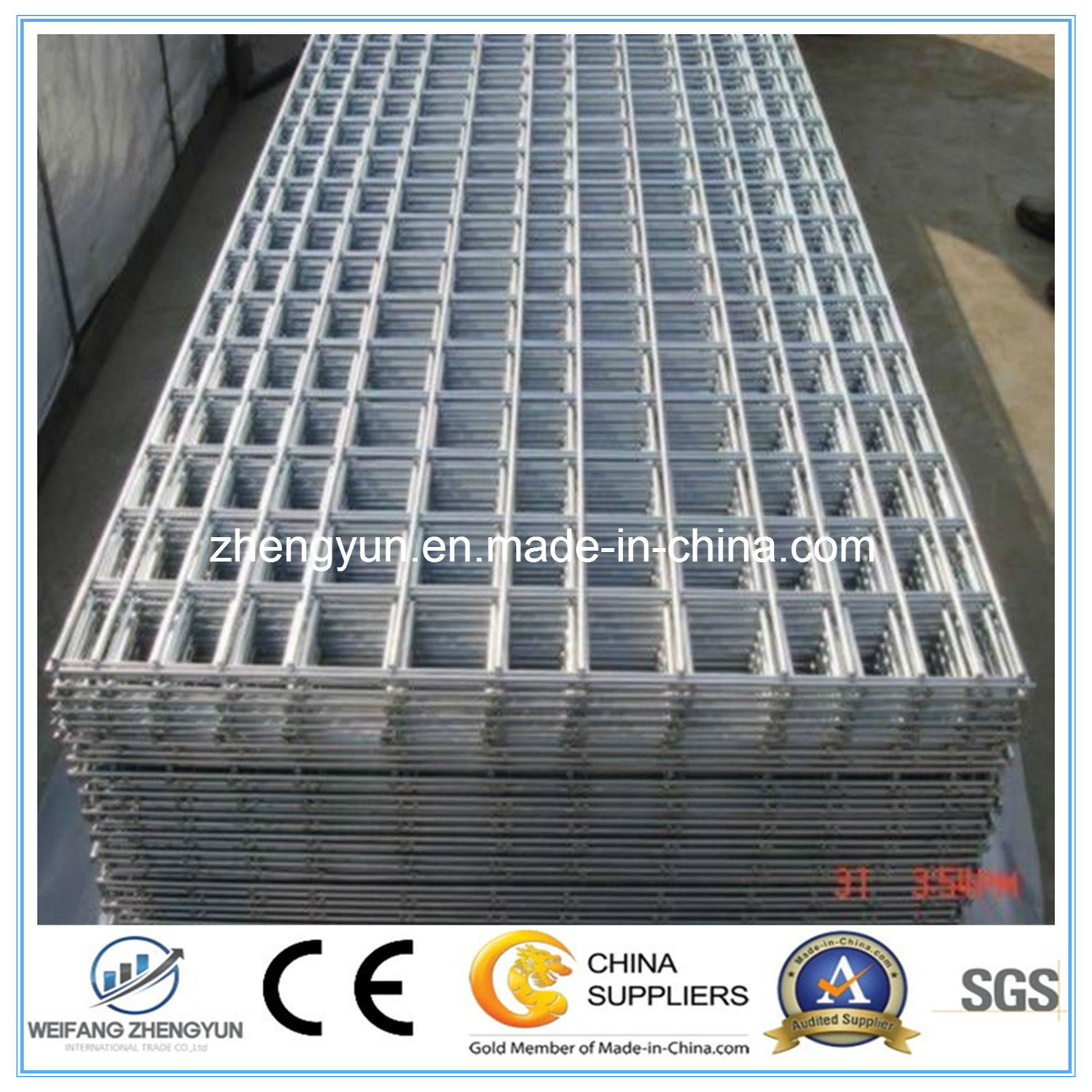 High Quality Square Wire Mesh, Galvanized Welded Wire Mesh Panel