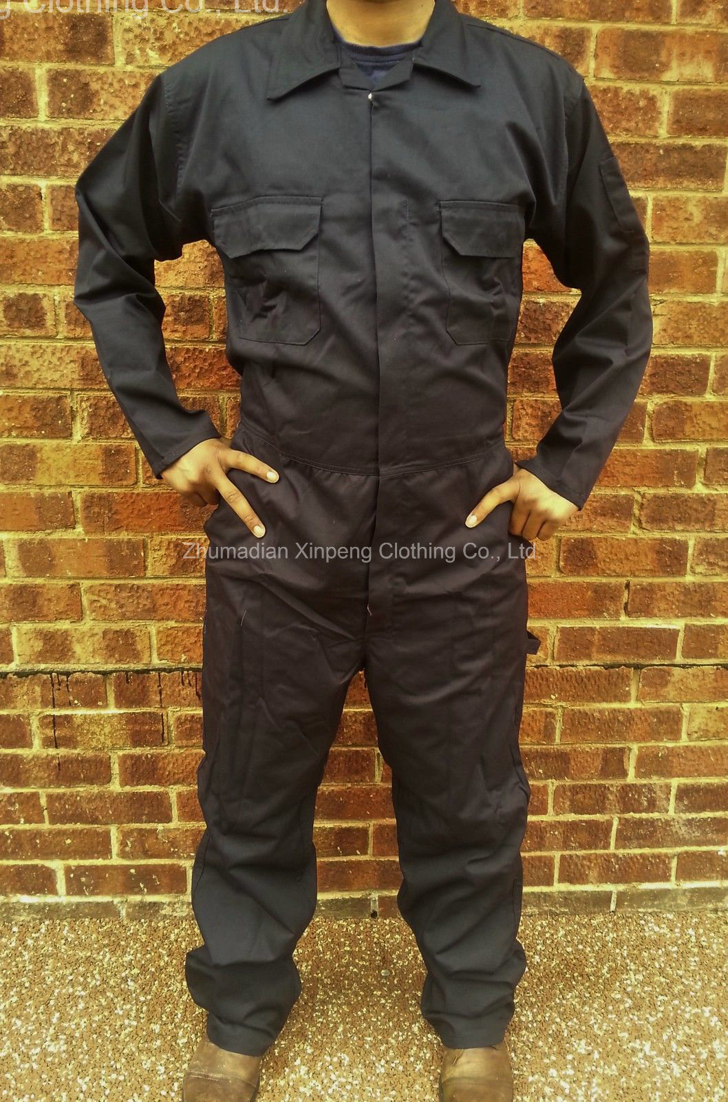 Basic Design Coverall Safety Uniform T/C65/35 190GSM Fabric