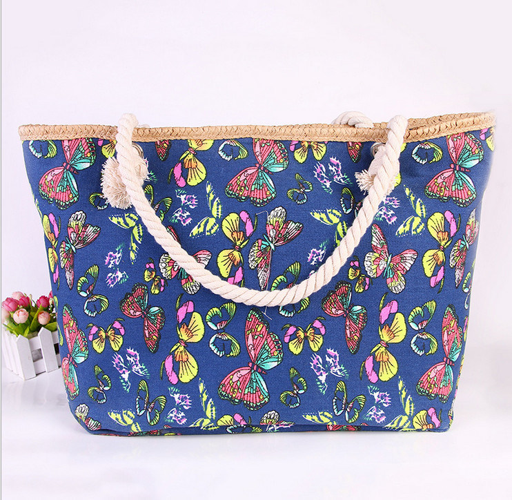The New Beach Bag Handbags Canvas Shoulder Bag Large - Capacity Handbags Leisure Fashion Cloth Bag