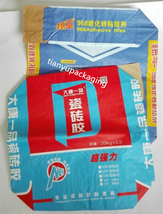 Multiwall Pasted Valve Paper Bag for Chemical Powder