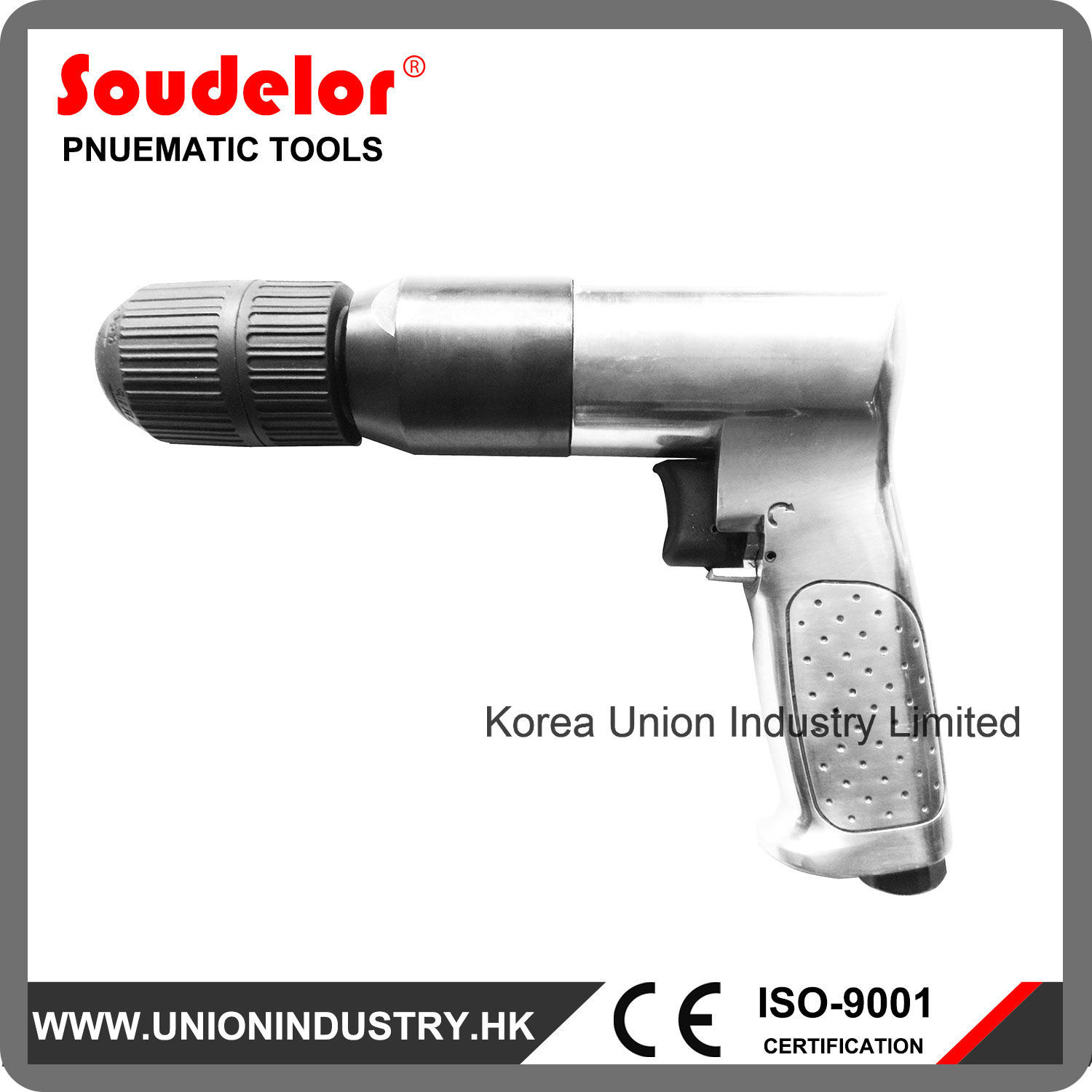 """Compressed Air Drill 1/2"""" Portable Hand Drill Tool"""
