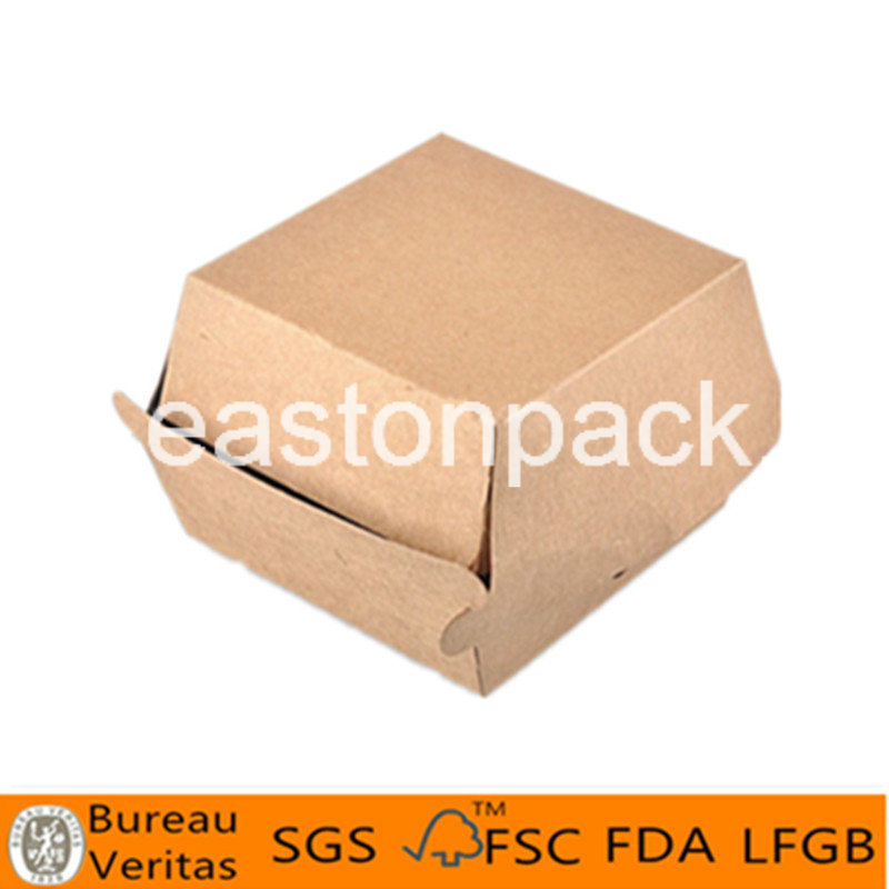 Disposable Eco Friendly Custom Cardboard Paper Hamburger Boxes