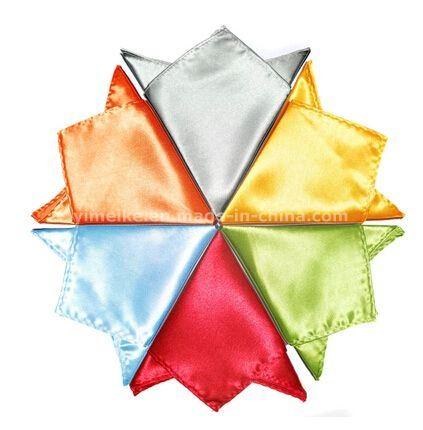 Wholesale Fashion Plain Color Noble Men′s Silk Handkerchief (WH02)