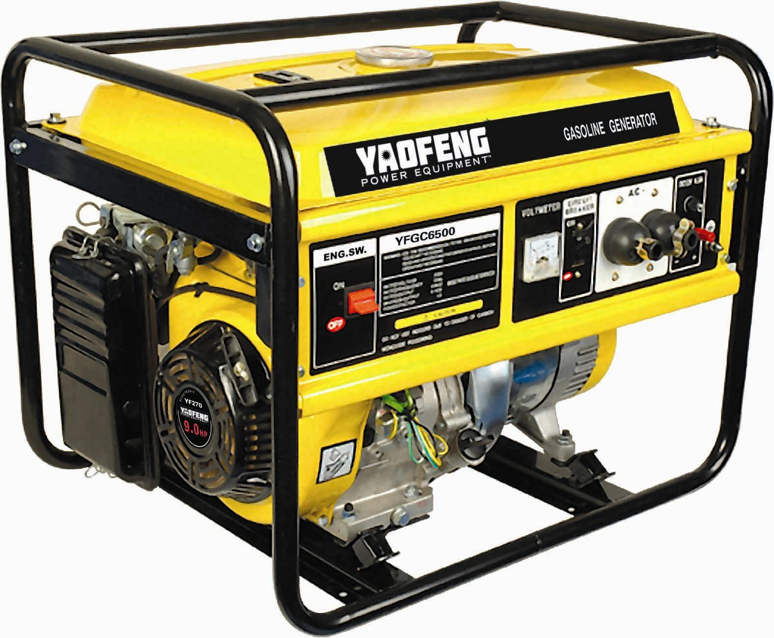 5000 Watts Portable Power Gasoline Generator with EPA, Carb, CE, Soncap Certificate (YFGC6500)
