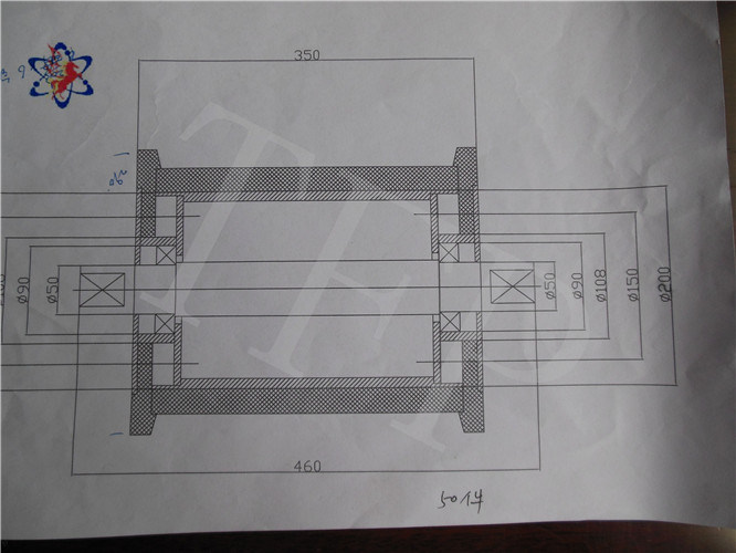 Strong Bearing Grounding Idler with Drawing