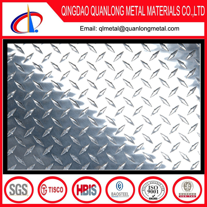 430 304 Ba Stainless Steel Checkered Plate