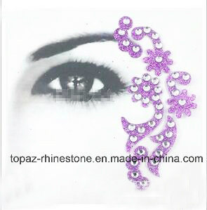Popular Decorative Skin Stickers DIY Beauty Eye Acrylic Flower Rhinestone Sticker (TS-570)
