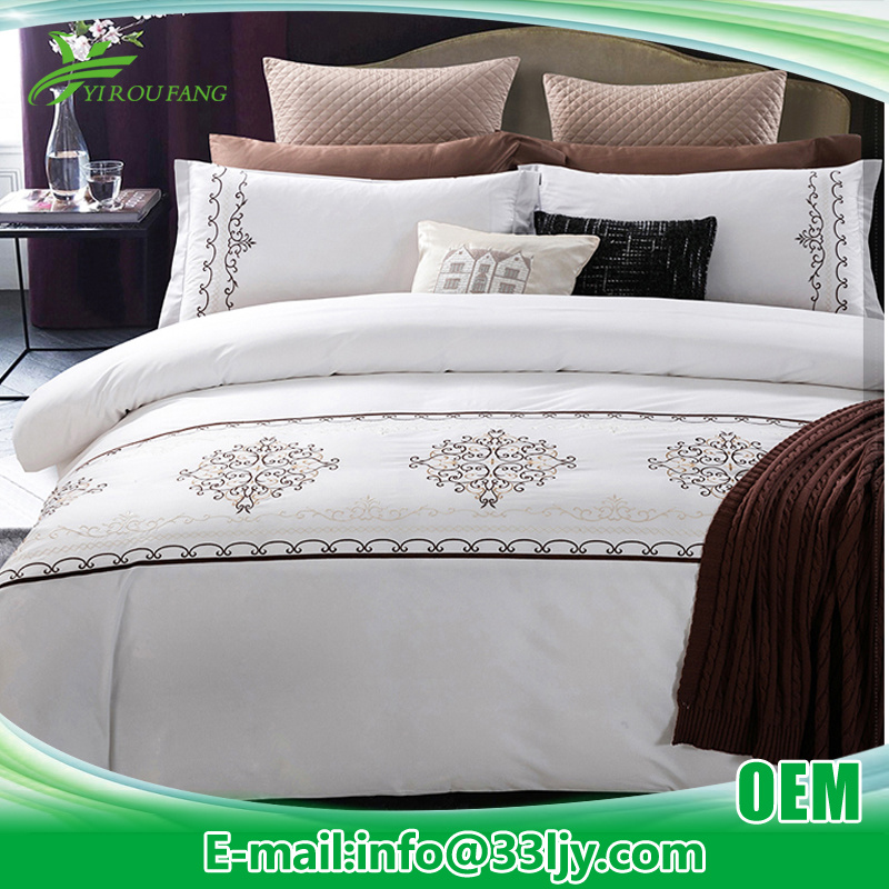 Cotton Plain Hospital White Embroidery Comforter Set
