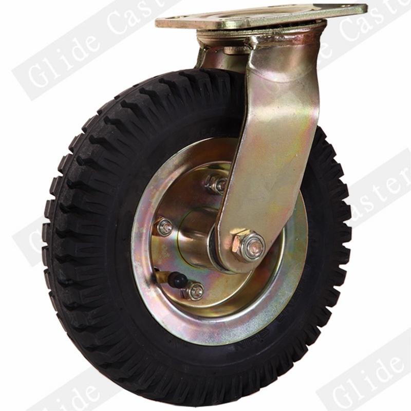 Heavey Duty Pneumatic Rubber Wheel Caster (Chengshin) (GD4421)