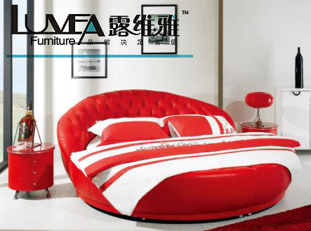round leather bed group picture image by tag