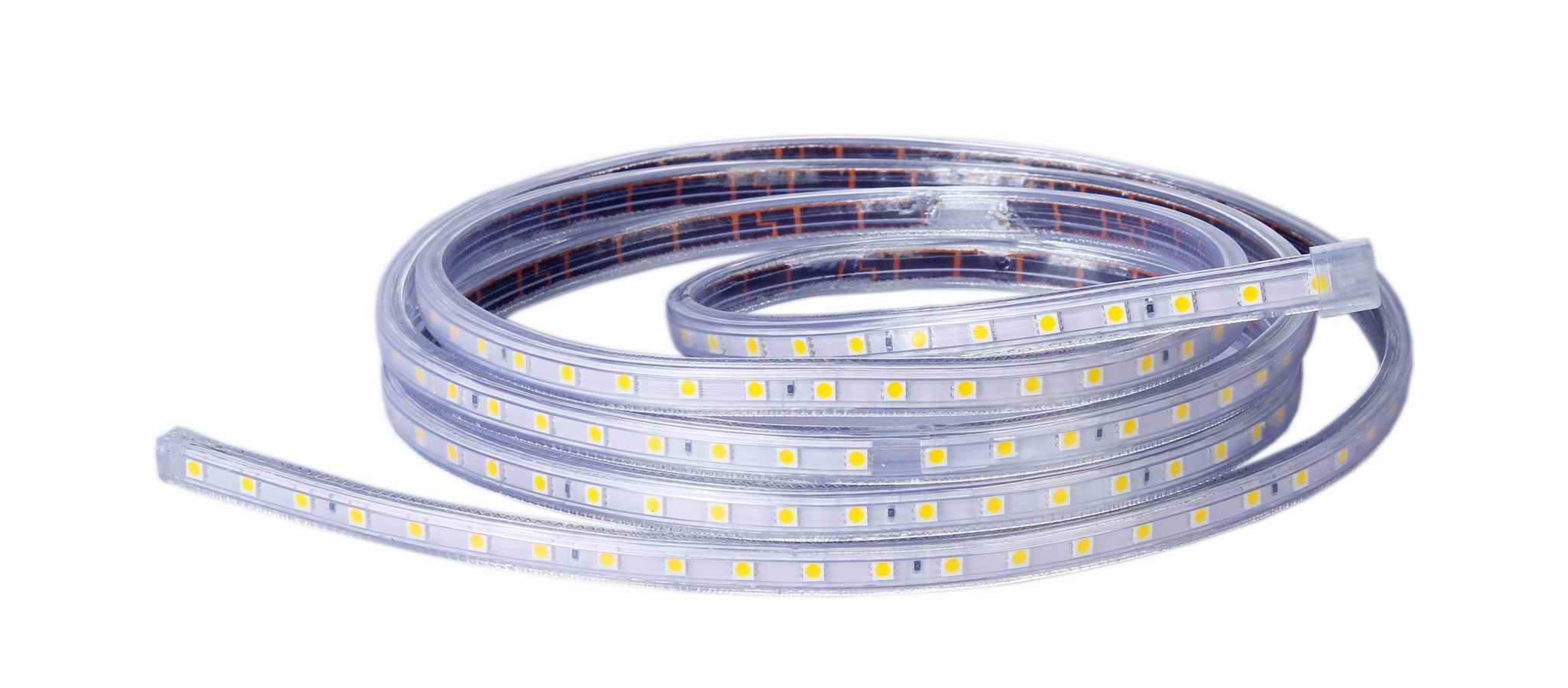 Led flexible strip light smd5050 220v 30led meter led - Tira de led exterior ...