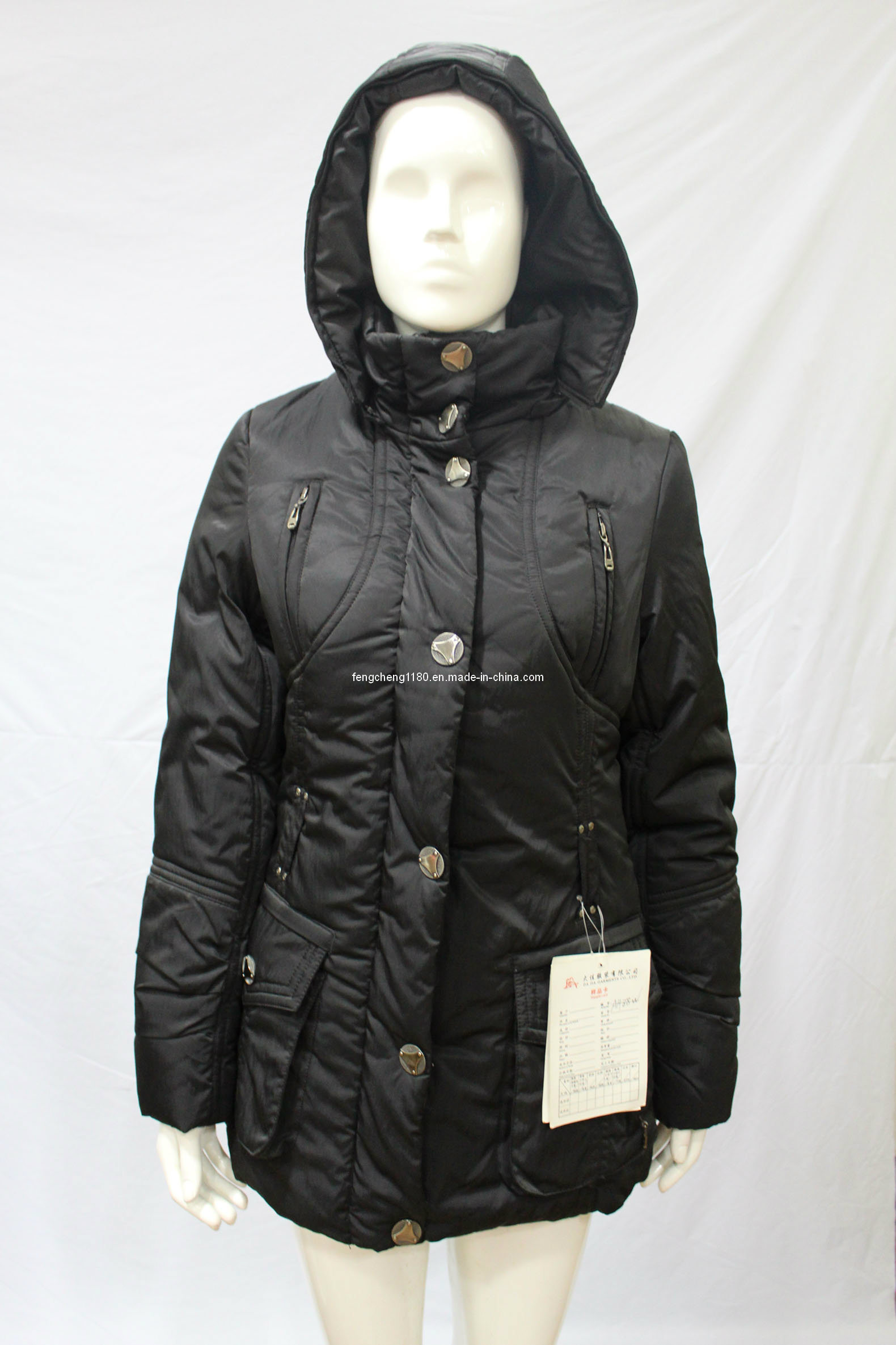 Women′s Winter Down Filled Jackets Coats with Hoody