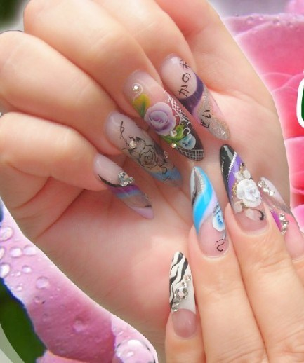 Nail Gel With Color@^*