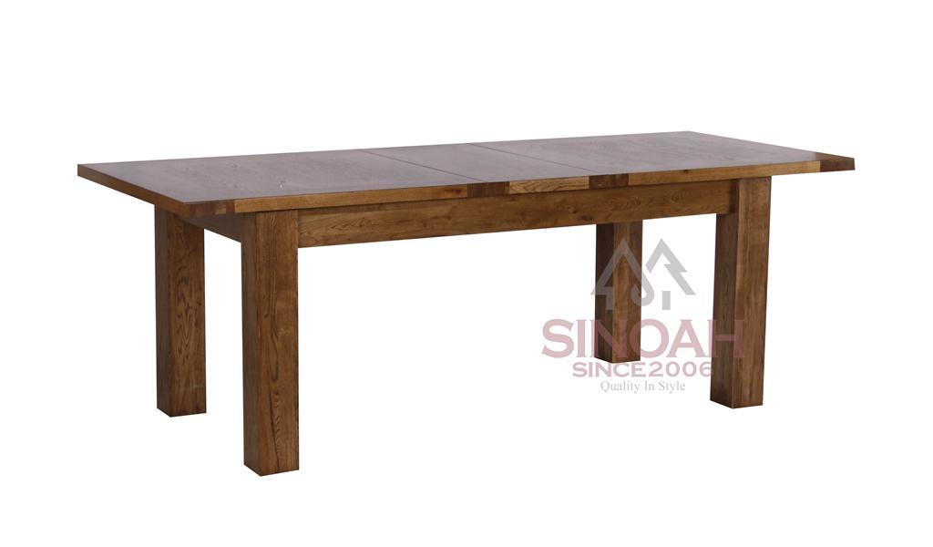 Solid Oak Wooden Rustic Extension Dining Table (RC18T)