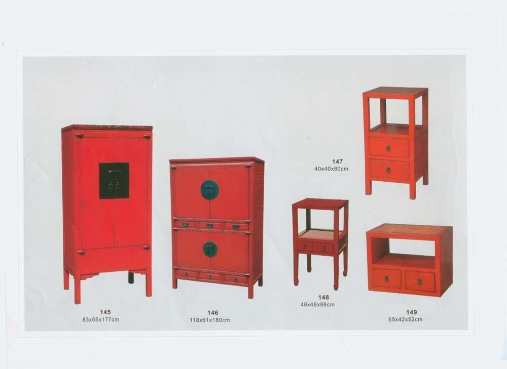 Chinese reproduction furniture red finishing chinese for Reproduction oriental furniture