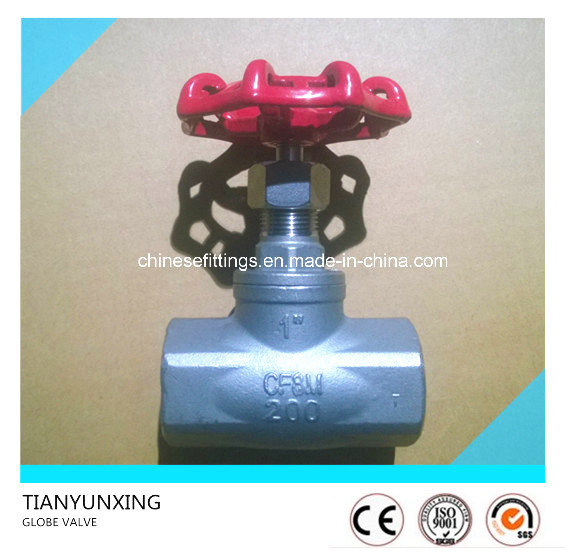 Dn25 Wog200 Ss316 Female NPT Threaded Globe Valve