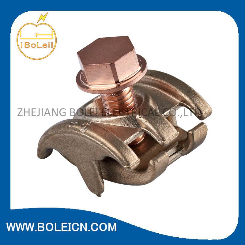 Bronze Bare Ground Clamp - Brass Screw