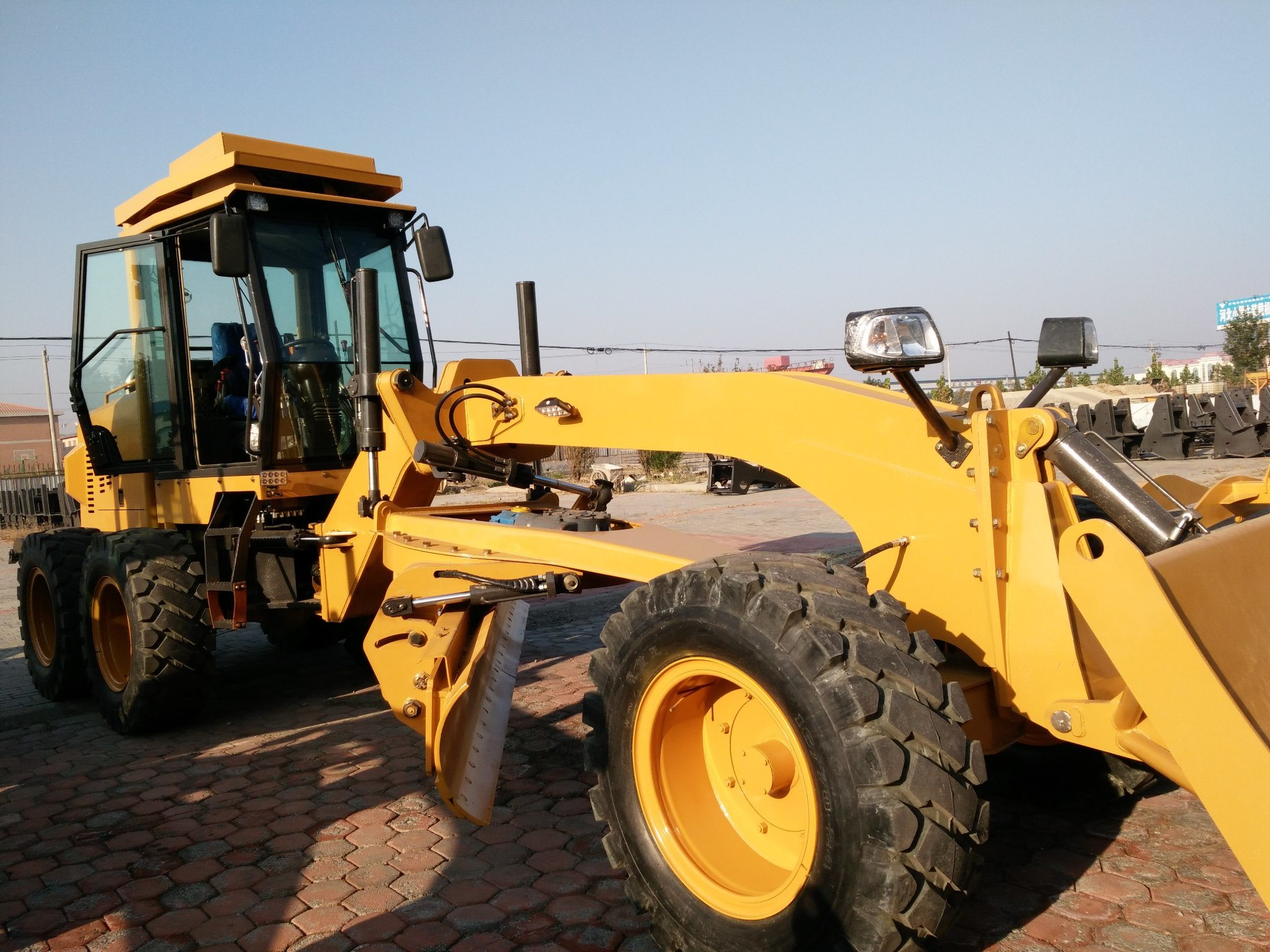 180HP Hydraulic Motor Grader Road Grader with Front Dozer and Ripper Py9180
