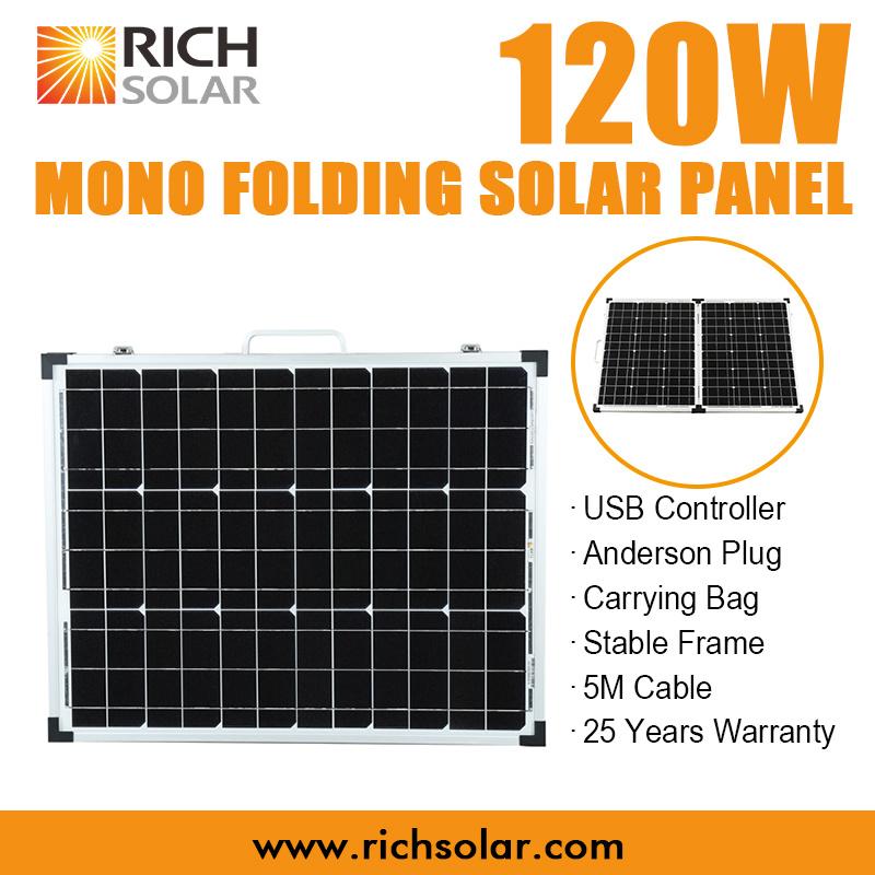 120W Mono Folding Solar Panel Solar Kit for Australia