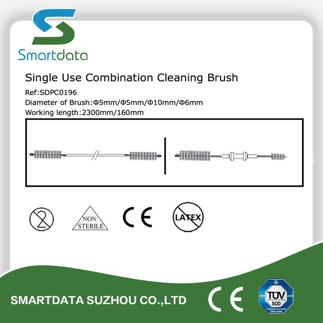 Single-Use Endoscopy Brush, Disposable Combination Cleaning Brush