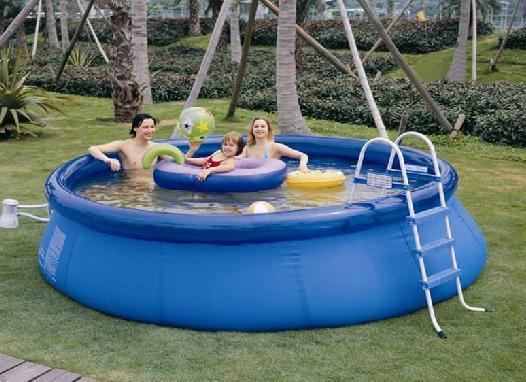 Round gonflable pool recreation swimming pool pool pour for Piscine gonflable adulte