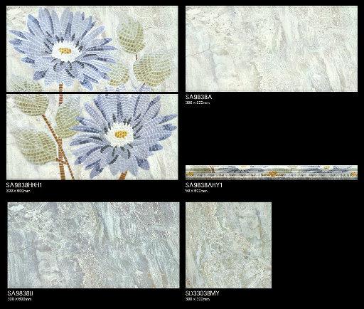 Building Material 300X600 Bathroom Glazed Ceramic Wall House Decor Tile