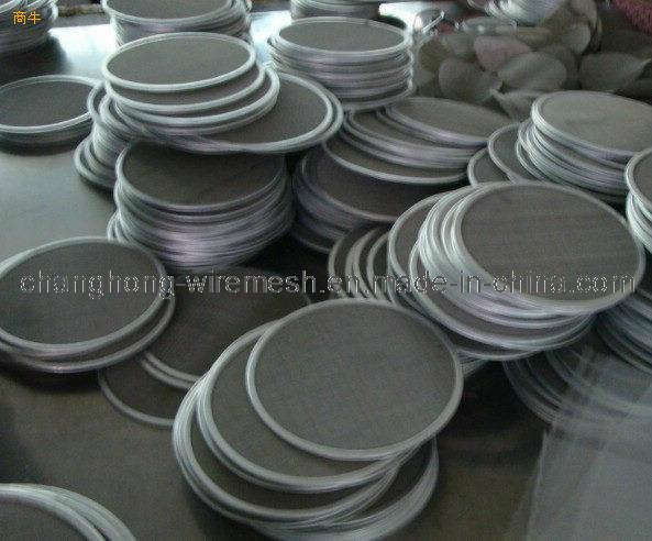 Black Wire Cloth : China black wire mesh plate with edging round