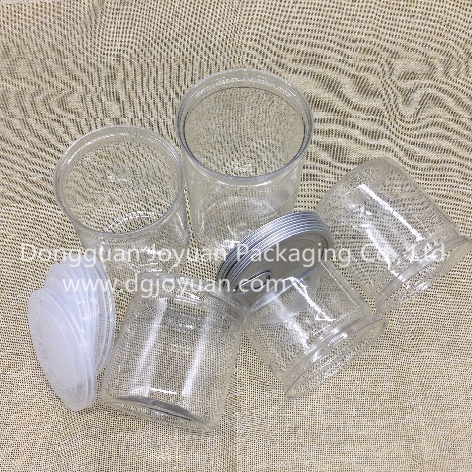 Food Grade Transparent Plastic Pet Easy Open Can