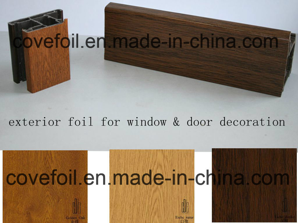 Anti-UV Exterior Use Plastic/ Lamianting PVC Film/Foil for Window Profiles/ Panels/ PVC Sheet