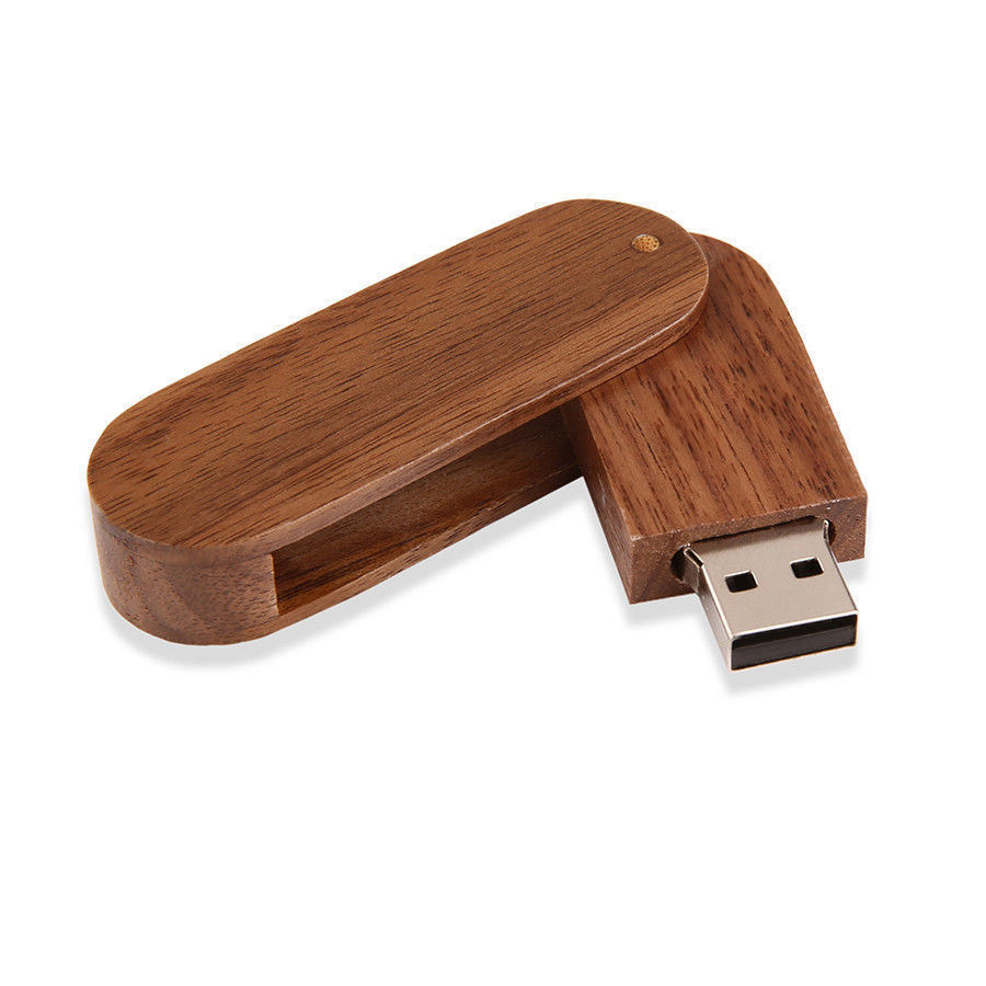 Twister Wood USB Flash Drive Laser Engraved Logo