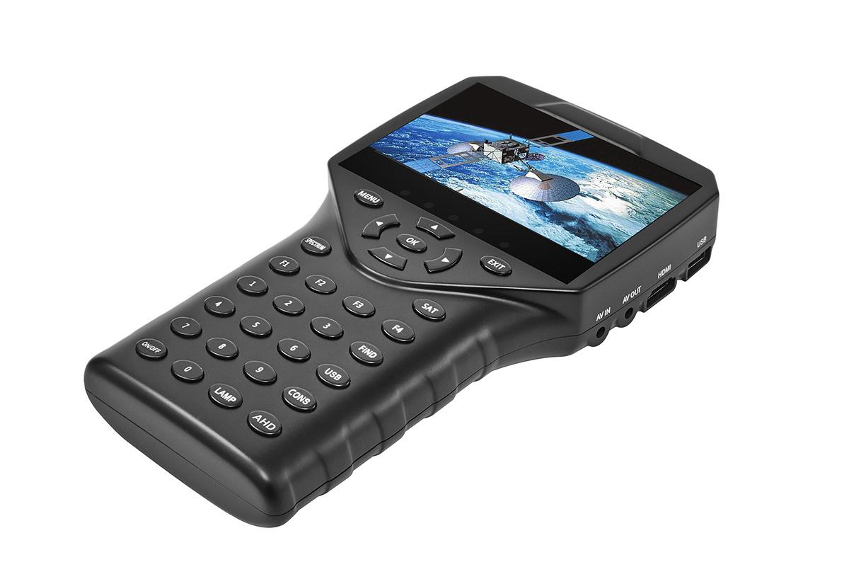 Portable 4.3 Inch Satllite Finder Meter with Videos Satlink
