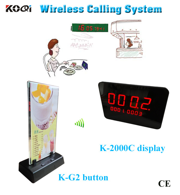 Wireless Call Button System with LED Display for Restaurant Service