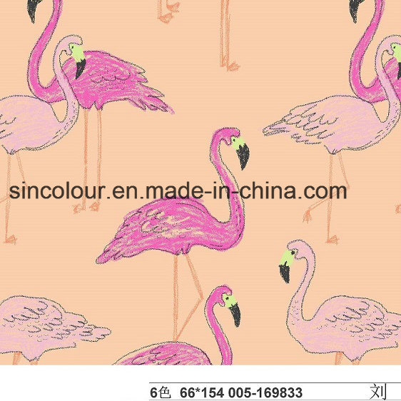 Grus Japonensis Knitted Printing of 80%Nylon 20%Spandex Fabric