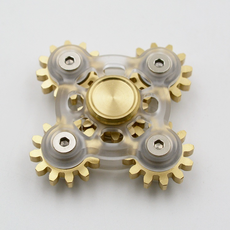 Transparent Gears Design Metal Fidget Spinners