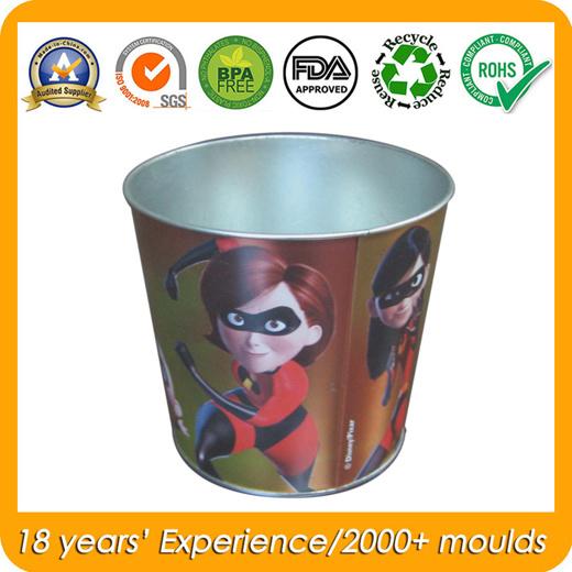 Tin Pail for Metal Trash Bin, Bucket/Barrel Tin